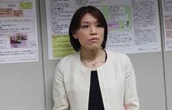 ▲ポートフォリオを発表する長尾智子医師