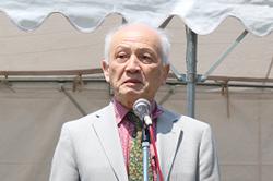 ▲連帯の挨拶:川崎昭一郎さん