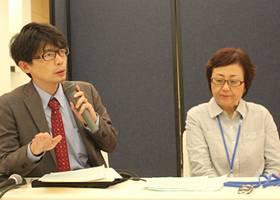 ▲質疑応答:(左)竹田講師・當山講師