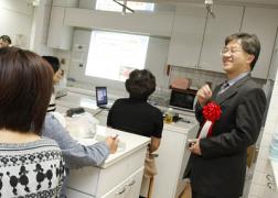 ▲講演する中澤桂一郎所長