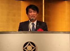 ▲来賓挨拶:田村憲久厚生労働大臣