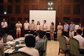 ▲韓国生協連の医師と医学生たち