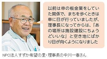NPO法人すずか希望の里・理事長の中川一春さん