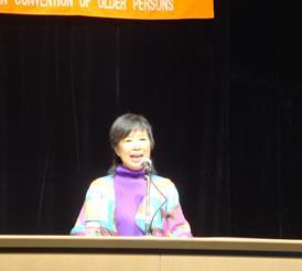 ▲記念講演:池田香代子さん