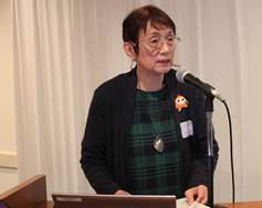 ▲報告:医療生協さいたま 磯﨑 悦子常務理事
