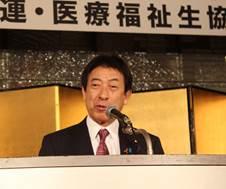 ▲来賓挨拶:塩崎 恭久厚生労働大臣