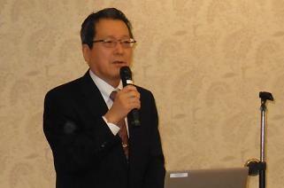 ▲講演:藤原高明 代表理事会長理事