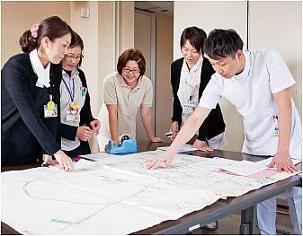 川辺生協病院の「マップづくり委員会」が、つながりマップを作成