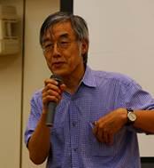 ▲講演(2):高橋 源一郎 教授