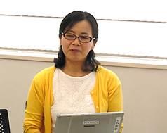▲中間報告を行った大嶋 真由美さん
